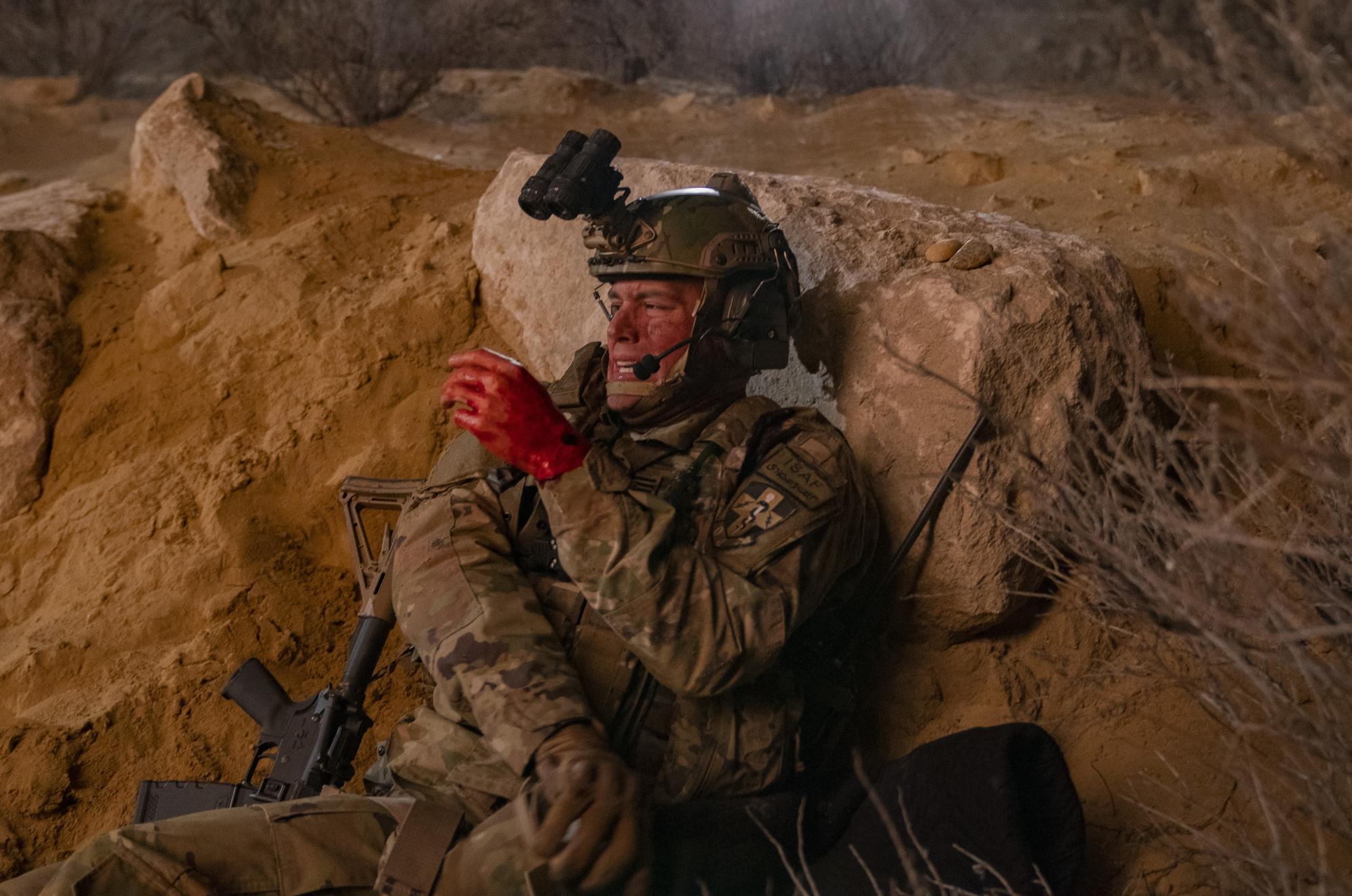 "9-1-1: Ryan Guzman in the ""Eddie Begins"" episode of 9-1-1 airing Monday, April 20 (8:00-9:01 PM ET/PT) on FOX. CR: Jack Zeman  / FOX. © 2020 FOX Media LLC."
