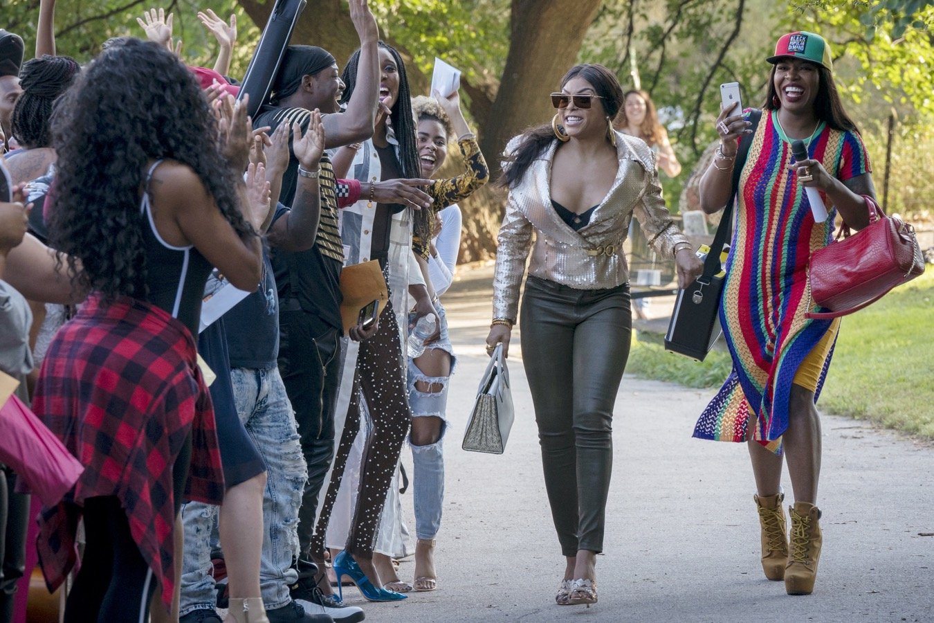 """EMPIRE: L-R: Taraji P. Henson and Ta'Rhonda Jones in the """"What is Done"""" episode of EMPIRE airing Wednesday, Nov. 7 (8:00-9:00 PM ET/PT) on FOX. ©2018 Fox Broadcasting Co. CR: Chuck Hodes/FOX."""