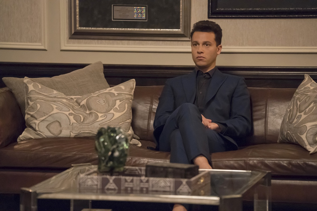 """EMPIRE: A.Z. Kelsey in the """"Treasons, Stratagems, and Spoils"""" episode of EMPIRE airing Wednesday, Nov. 14 (8:00-9:00 PM ET/PT) on FOX. ©2018 Fox Broadcasting Co. CR: Chuck Hodes/FOX."""