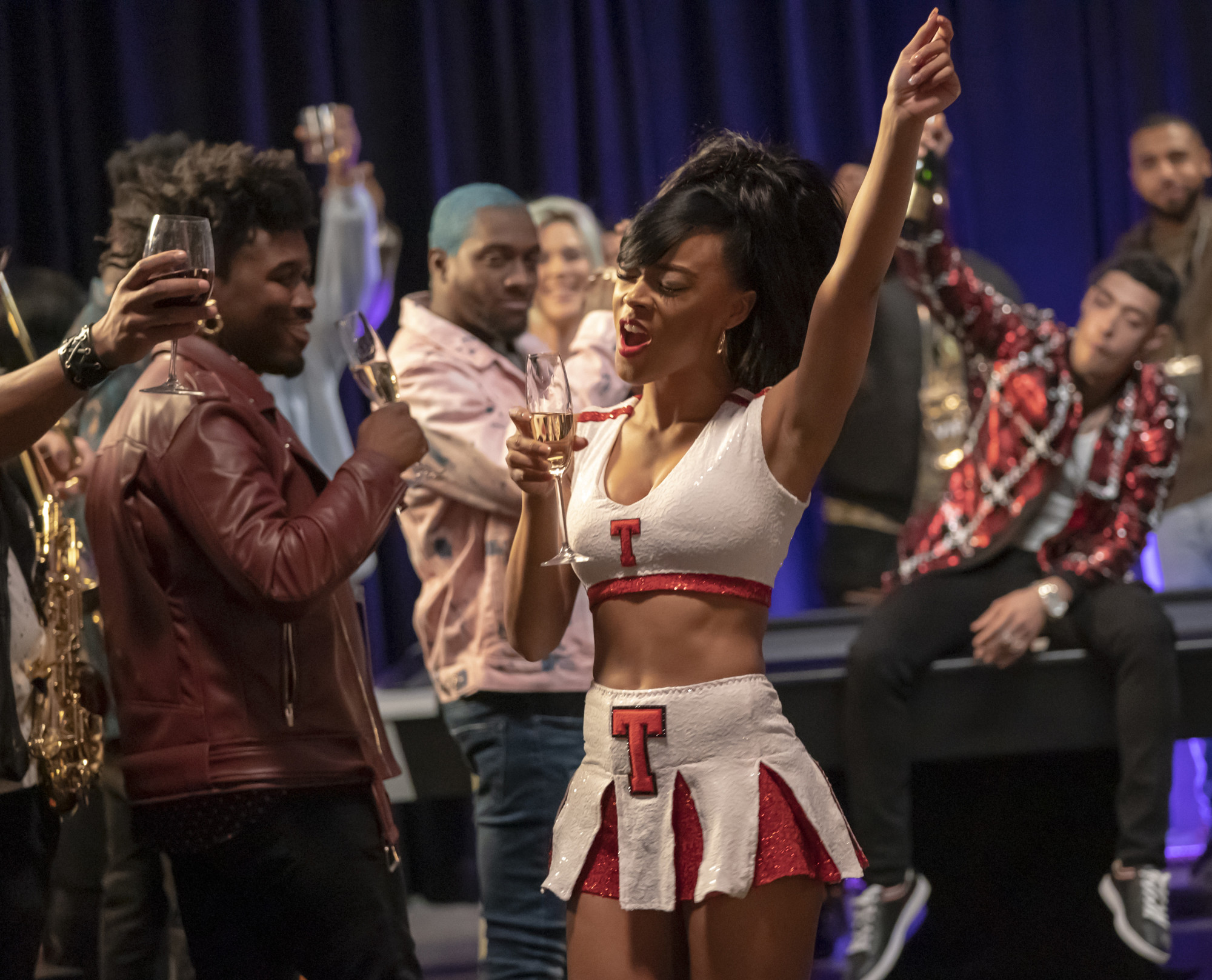 "EMPIRE: Serayah in the ""Hot Blood, Hot Thoughts, Hot Deeds"" episode of EMPIRE airing Wednesday, April 3 (8:00-9:00 PM ET/PT) on FOX. @2019 Fox Broadcasting Co. CR: Chuck Hodes/FOX."