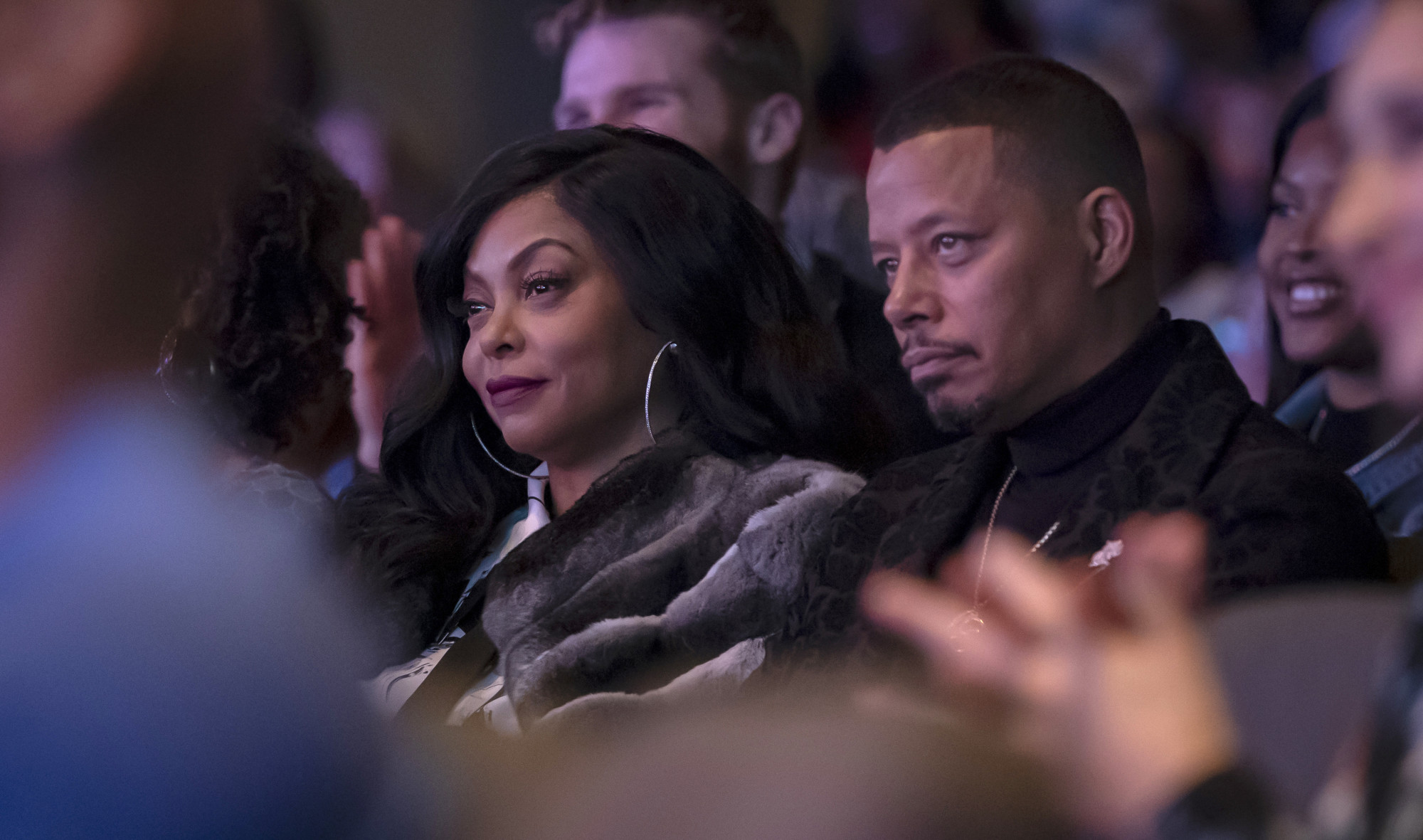 "EMPIRE: L-R: Taraji P. Henson and Terrence Howard in the ""A Wise Father That Knows His Own Child"" episode of EMPIRE airing Wednesday, April 17 (8:00-9:00 PM ET/PT) on FOX. ©2019 Fox Media LLC CR: Chuck Hodes/FOX."