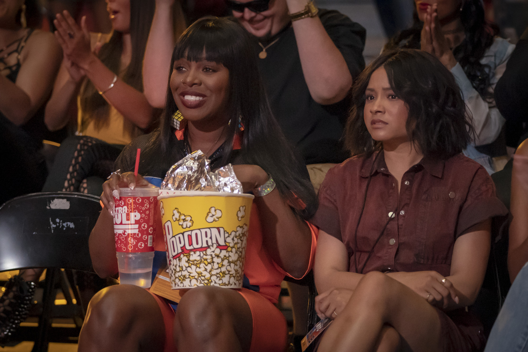 """EMPIRE: L-R: Ta'Rhonda Jones and Rhyon Nicole Brown in the """"What Is Love"""" season premiere episode of EMPIRE airing Tuesday, Sept. 24 (9:00-10:00 PM ET/PT) on FOX. ©2019 Fox Broadcasting Co. All Rights Reserved. CR: Chuck Hodes/FOX."""