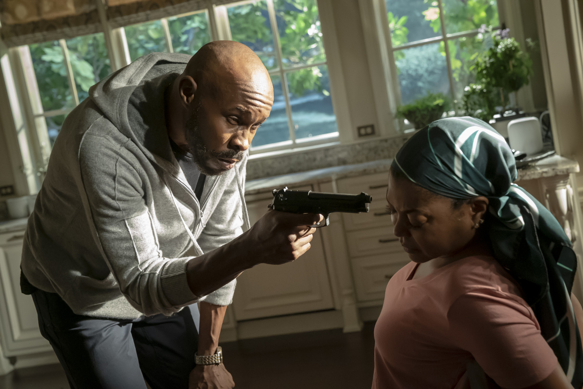 "EMPIRE: Wood Harris and Taraji P. Henson in the ""You Broke Love"" episode of EMPIRE airing Tuesday, Oct. 8 (9:00-10:00 PM ET/PT) on FOX. ©2019 Fox Media LLC. CR: Chuck Hodes/FOX."