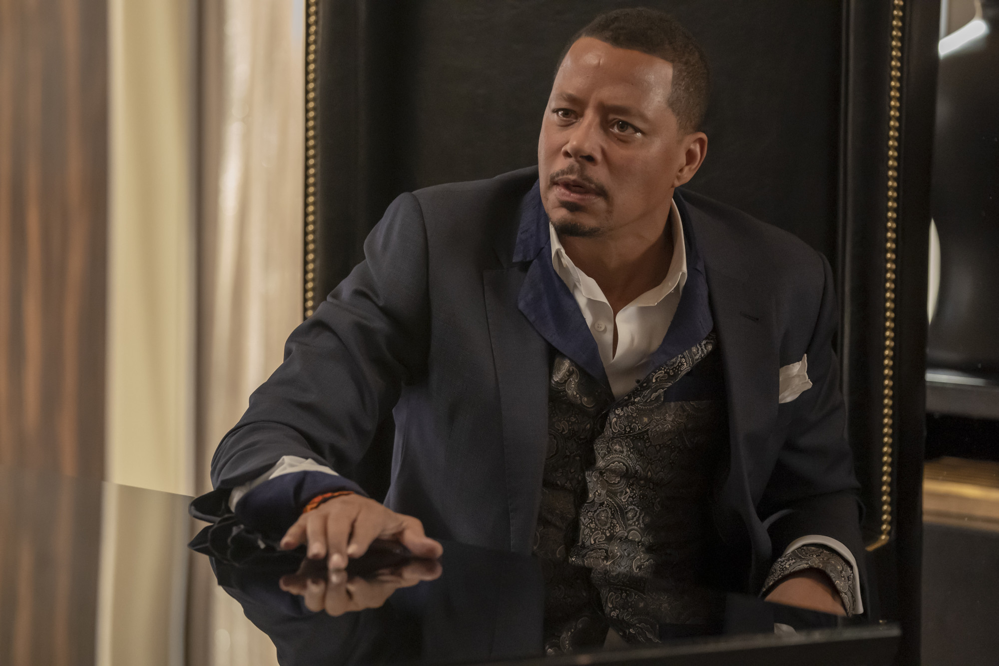 """EMPIRE: Terrence Howard in the """"We Got Us"""" series' 100th episode of EMPIRE airing Tuesday, April 7 (9:00-10:00 PM ET/PT) on FOX. ©2020 Fox Media LLC. CR: Chuck Hodes/FOX."""