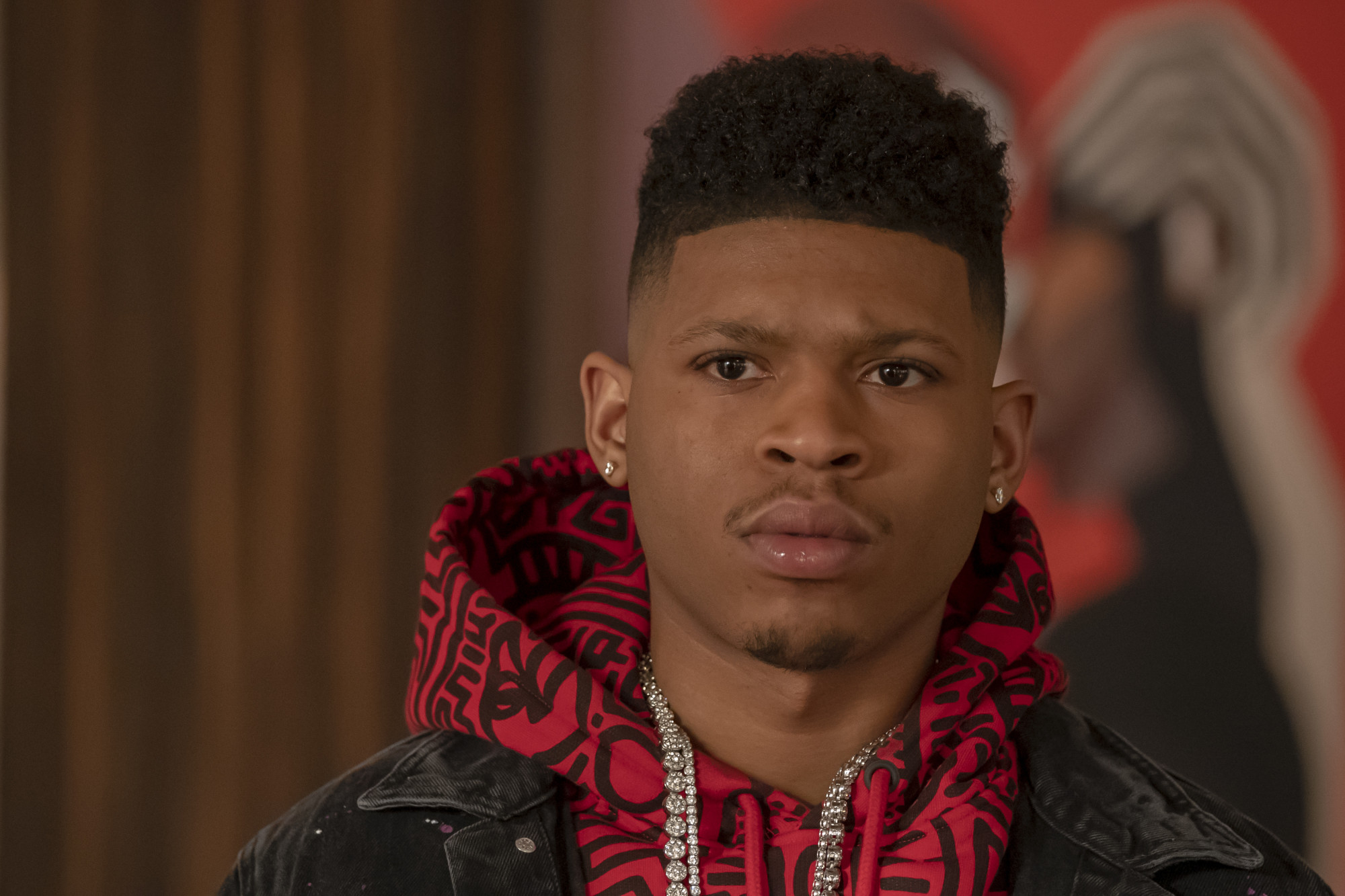 """EMPIRE: Bryshere Y. Gray in the """"We Got Us"""" series' 100th episode of EMPIRE airing Tuesday, April 7 (9:00-10:00 PM ET/PT) on FOX. ©2020 Fox Media LLC. CR: Chuck Hodes/FOX."""