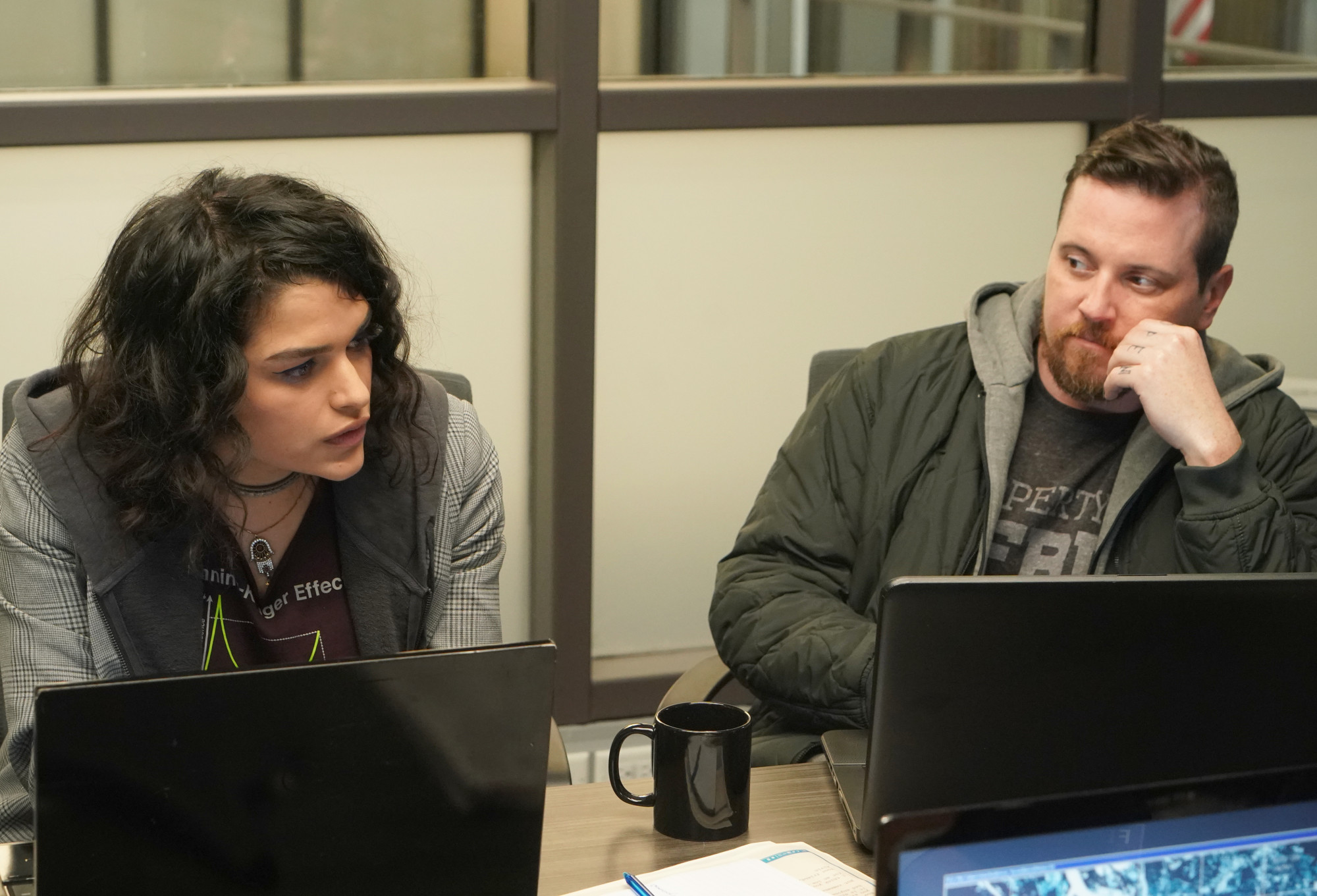 """NEXT:  L-R:  Eve Harlow and Michael Mosley in the """"File #1"""" season premiere episode of NEXT airing Tuesday, Oct. 6 (9:00-10:00 PM ET/PT) on FOX. © 2020 FOX MEDIA LLC. Cr: Shane HarveyFOX."""