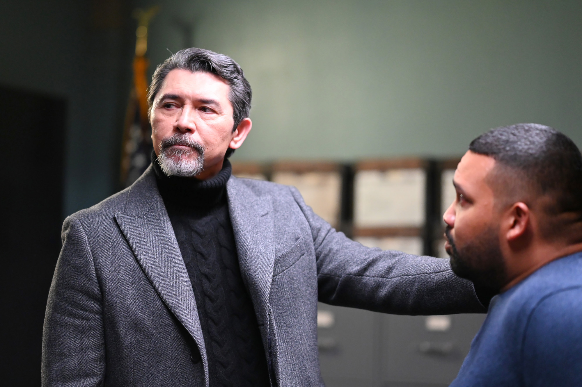 "PRODIGAL SON: L-R:  Lou Diamond Phillips and Frank Harts in the ""It's All In The Execution"" season two premiere episode of PRODIGAL SON airing Tuesday, Jan. 12 (9:01-10:00 PM ET/PT) on FOX.  ©2020 Fox Media LLC Cr:  Phil Caruso/FOX"