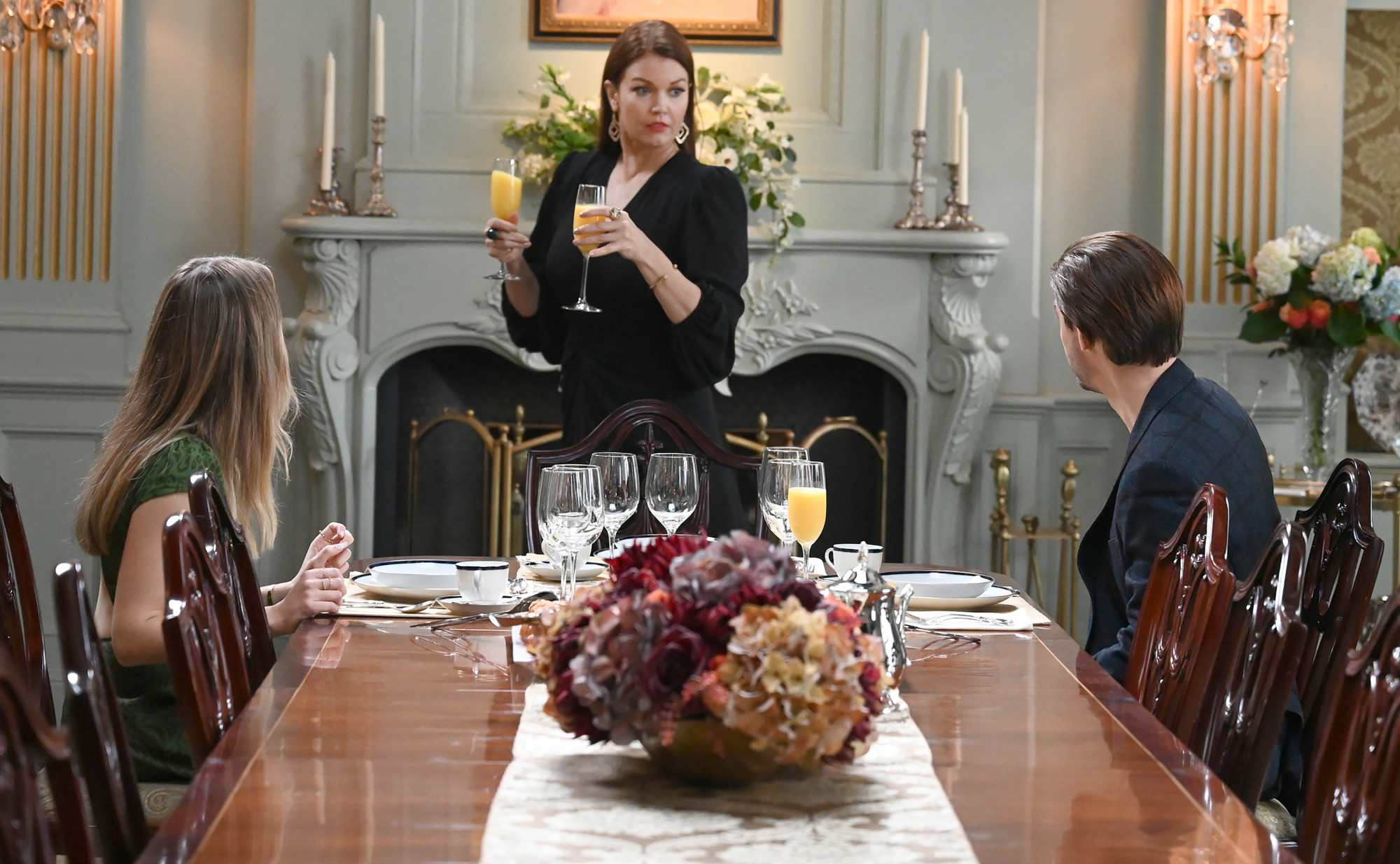 "PRODIGAL SON:  L-R:  Halston Sage, Bellamy Young and Tom Payne in the ""Speak of The Devil""  episode of PRODIGAL SON airing Tuesday, Jan.19 (9:01-10:00 PM ET/PT) on FOX. ©2021 Fox Media LLC Cr: Phil Caruso/FOX"