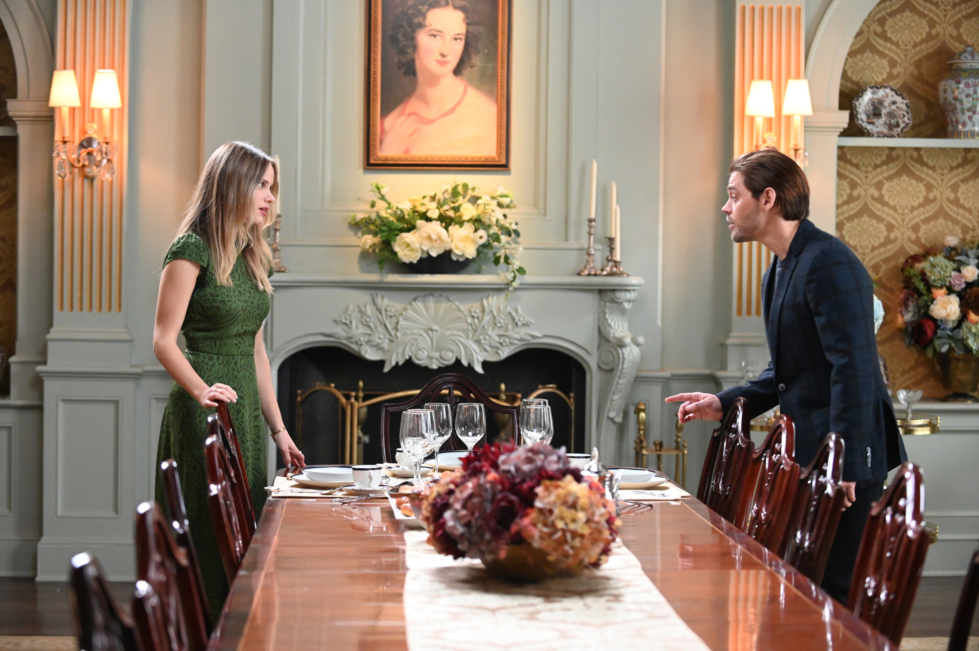 """PRODIGAL SON:  L-R:  Halston Sage and Tom Payne in the """"Speak of The Devil""""  episode of PRODIGAL SON airing Tuesday, Jan.19 (9:01-10:00 PM ET/PT) on FOX. ©2021 Fox Media LLC Cr: Phil Caruso/FOX"""
