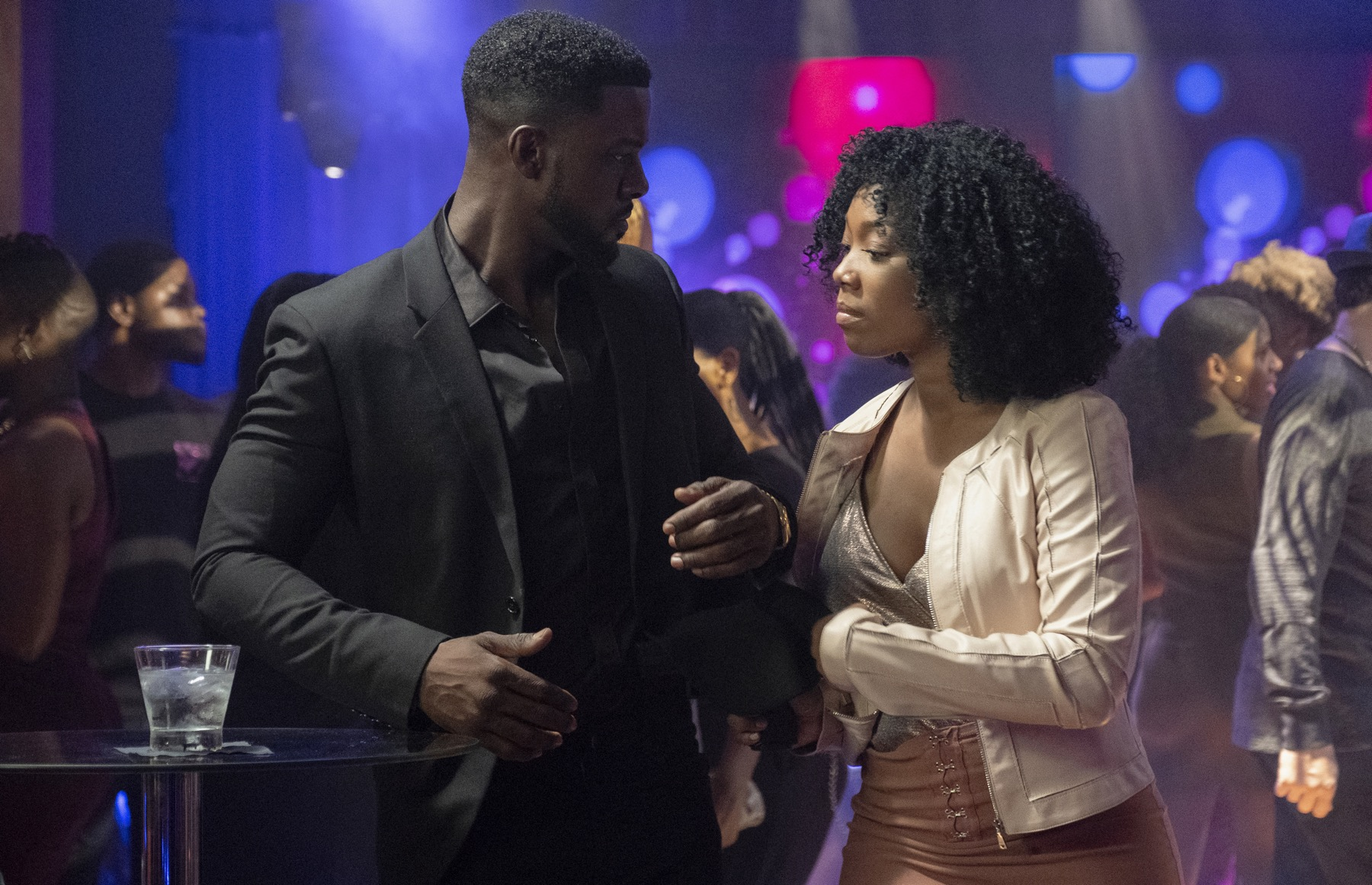 "STAR: L-R: Lance Gross and Brandy Norwood in the ""Someday We'll All Be Free"" episode of STAR airing Wednesday, Oct. 31 (9:00-10:00 PM ET/PT) on FOX. ©2018 Fox Broadcasting Co. CR: Wilford Harewood/FOX."