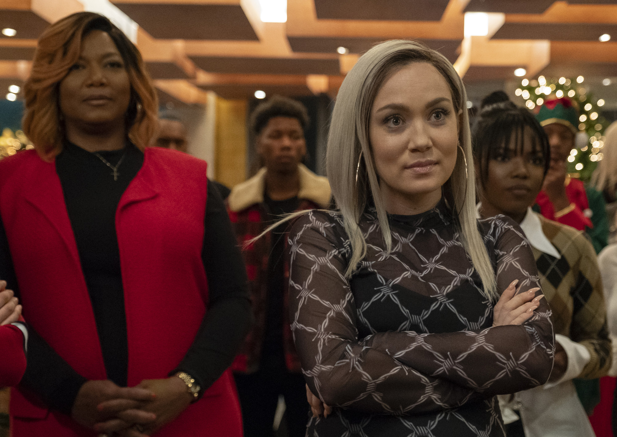 """STAR: L-R: Queen Latifah, Jude Demorest and Ryan Destiny in the """"Zion"""" fall finale episode of STAR airing Wednesday, Dec. 5 (9:00-10:00 PM ET/PT) on FOX. ©2018 Fox Broadcasting Co. CR: Wilford Harewood/FOX."""