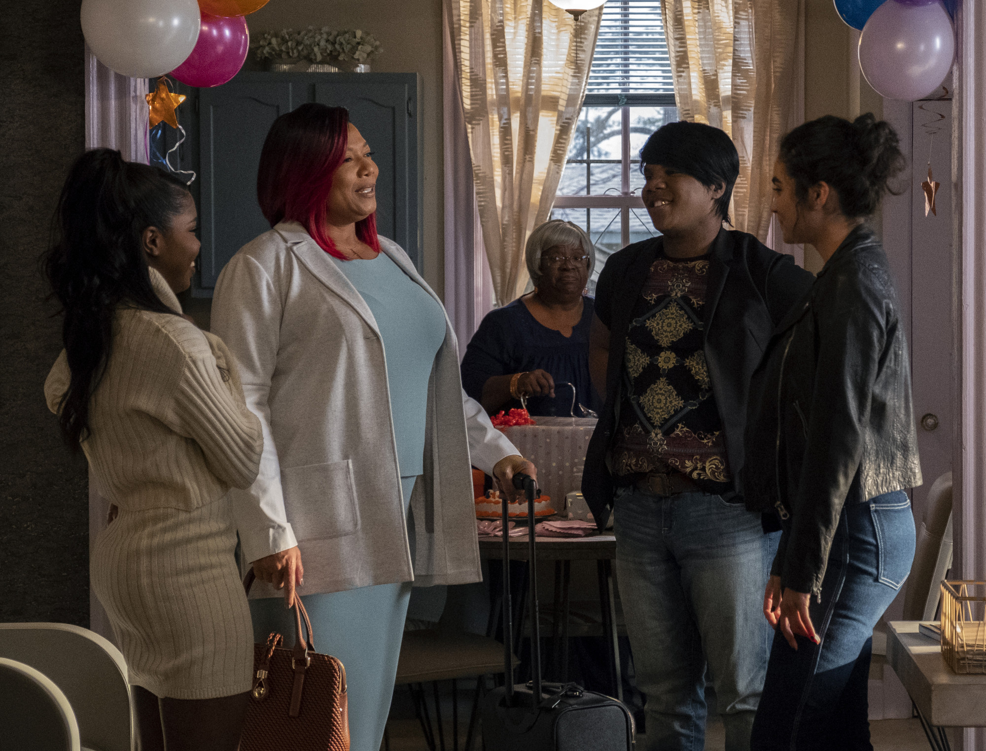 "STAR: L-R: Ryan Destiny, Queen Latifah, Miss Lawrence and Brittany O'Grady in the ""The Reckoning"" episode of STAR airing Wednesday, April 3 (9:00-10:00 PM ET/PT) on FOX. ©2019 Fox Broadcasting Co. CR: Wilford Harewood/FOX."