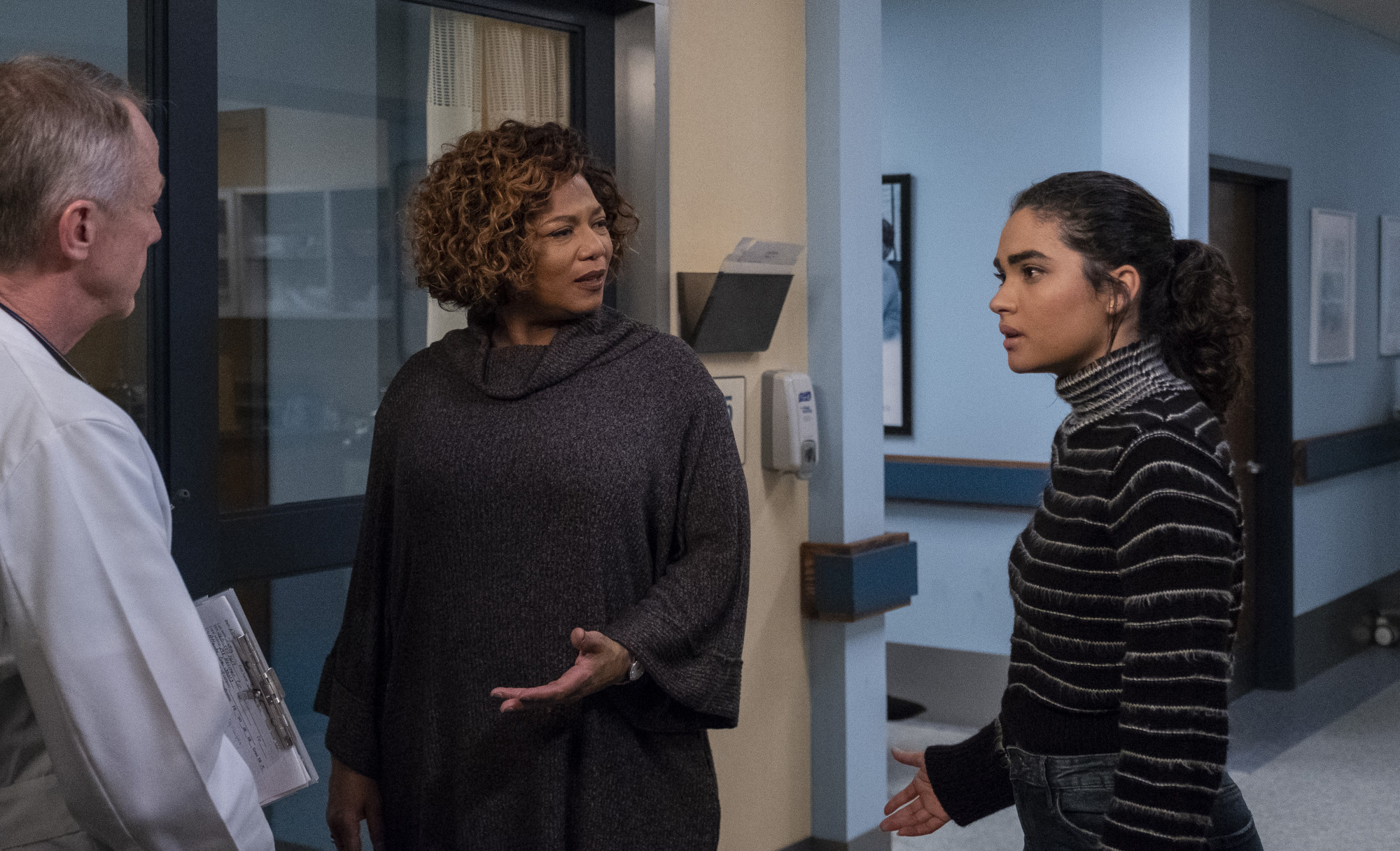 "STAR: L-R: Queen Latifah and Brittany O'Grady in the ""Amazing Grace"" episode of STAR airing Wednesday, April 10 (9:00-10:00 PM ET/PT) on FOX. ©2019 Fox Media LLC CR: Wilford Harewood/FOX."