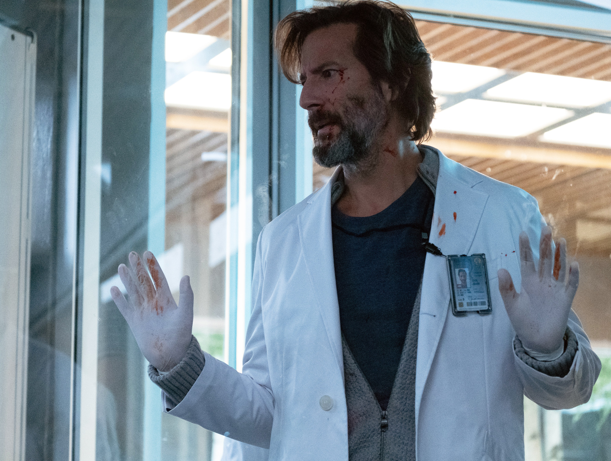 """THE PASSAGE:  Henry Ian Cusick in the """"Who's Blood Is That?"""" episode of THE PASSAGE airing Monday, Feb. 4 (9:00-10:00 PM ET/PT) on FOX. © 2019 FOX Broadcasting. Cr: Erika Doss / FOX."""