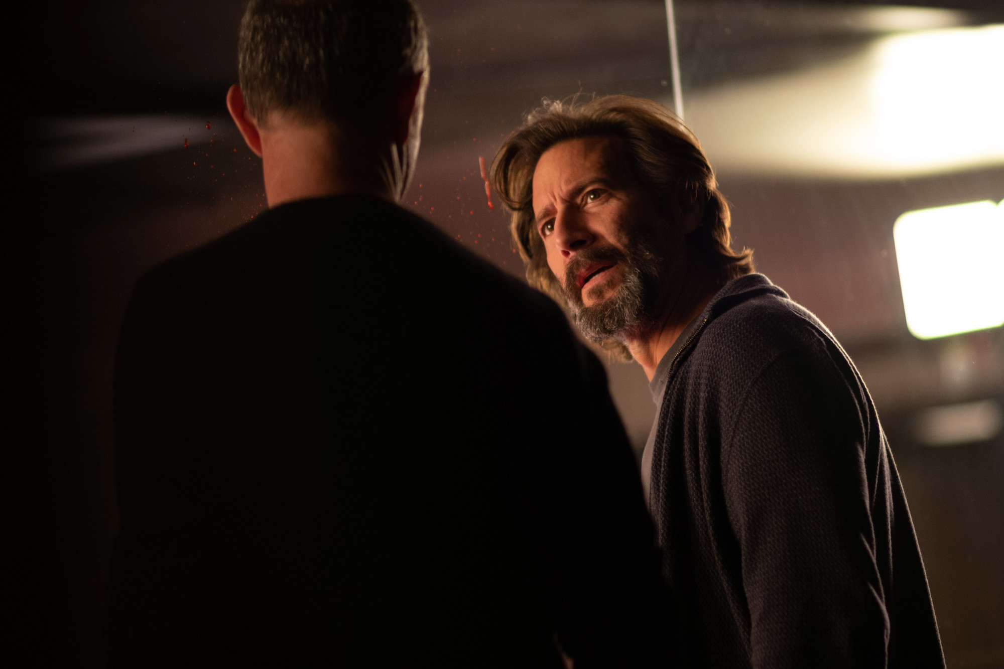 "THE PASSAGE: L-R: Jamie McShane and Henry Ian Cusick in the ""How You Gonna Outrun The End of The World?"" episode of THE PASSAGE airing Monday, Feb. 11 (9:00-10:00 PM ET/PT) on FOX. © 2019 FOX Broadcasting. Cr: Erika Doss / FOX."