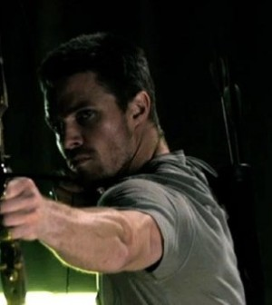 Stephen Amell as Arrow. Image © The CW