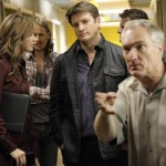 STANA KATIC, NATHAN FILLION, DENNIS COCKRUM