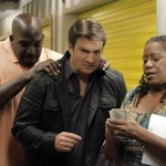 STANA KATIC, KEVIN BROWN, NATHAN FILLION, CARLEASE BURKE