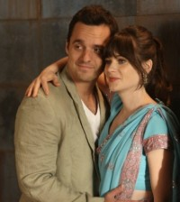 "Jake Johnson and Zooey Deschanel in New Girl's Finale Episode ""Elaine's Big Day"" Image © FOX"