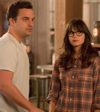 Jake Johnson and Zooey Deschanel in New Girl. Image © FOX